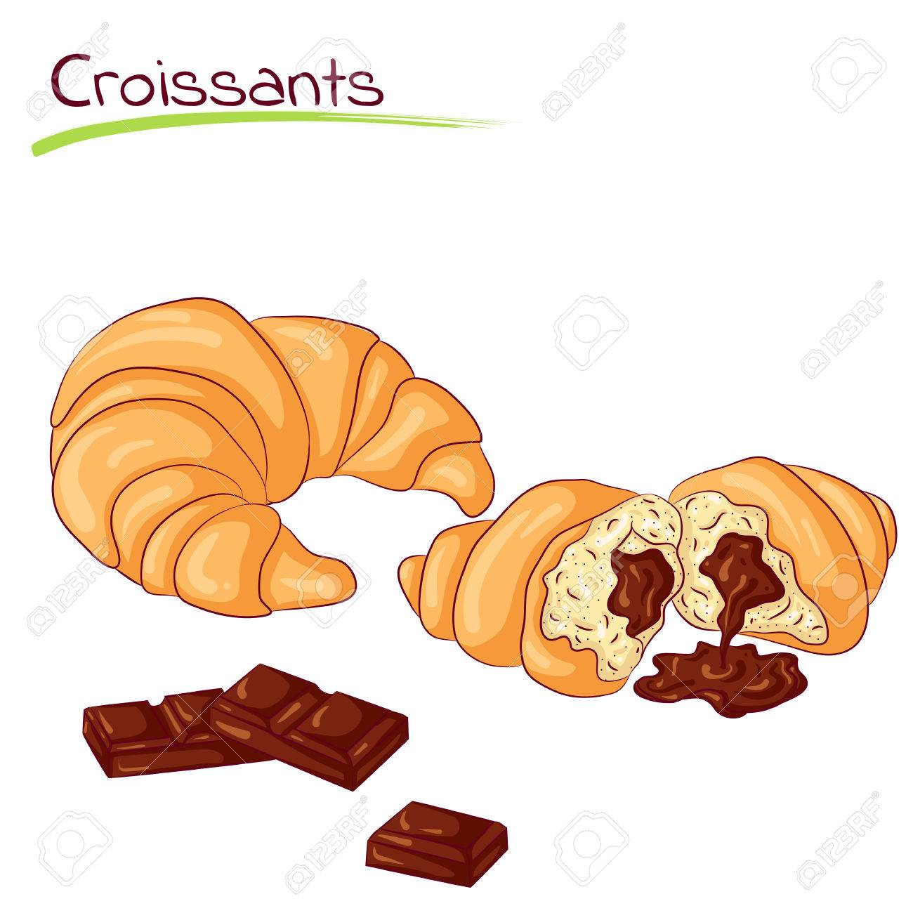Croissants with chocolate.