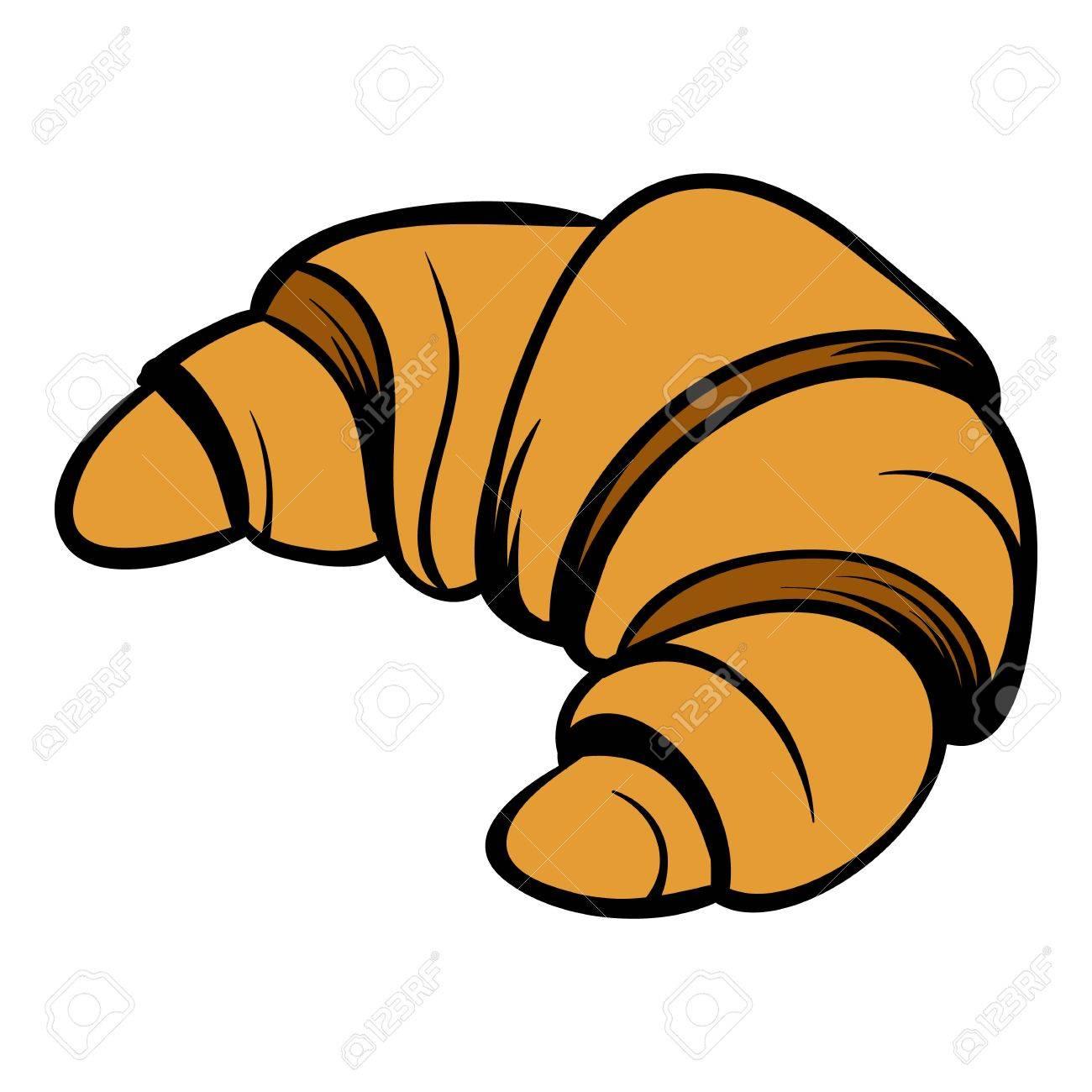 Croissant icon cartoon.