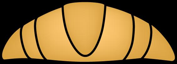 Large Croissant Clip Art.