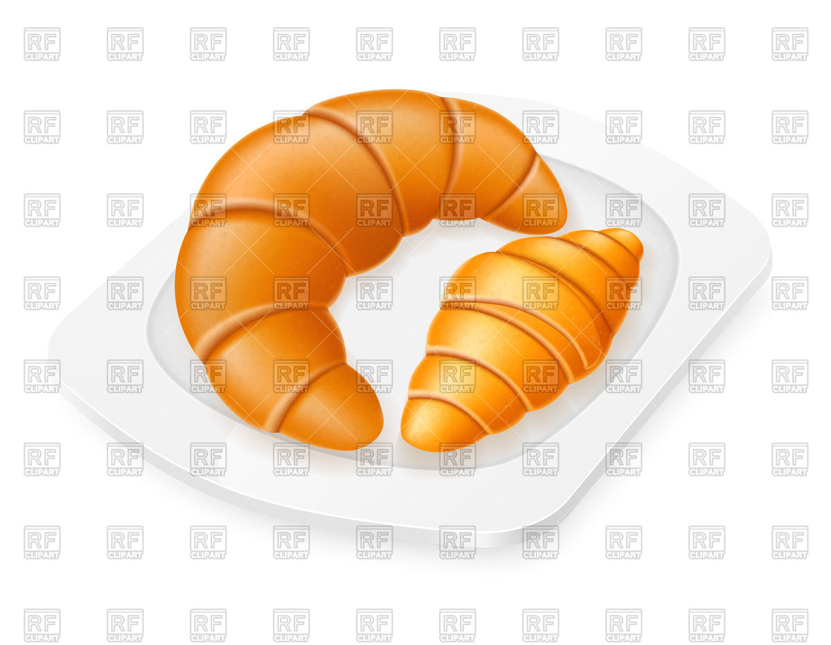 Croissants on plate Vector Image #93725.