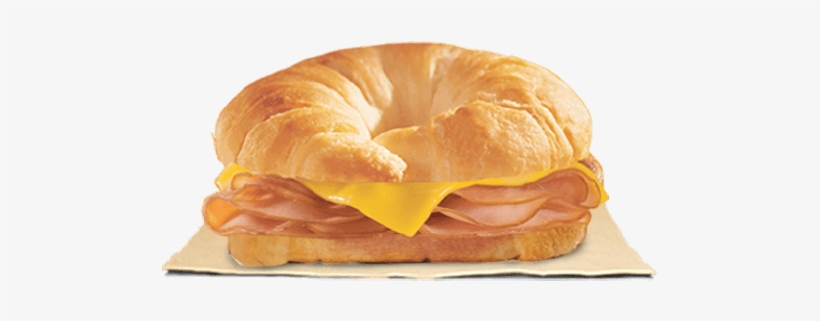 Our Grab And Go Ham & Cheese Croissan\'wich® Is Piled.