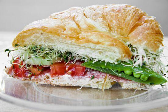 Veggie and Salami Croissanwich.