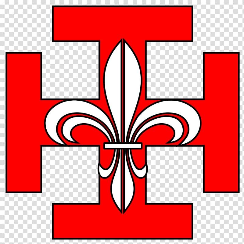 Cross potent Scouting World Scout Emblem, croix rouge.