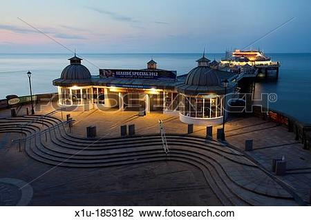 Stock Photo of Cromer Pier at Dusk Cromer Norfolk England x1u.