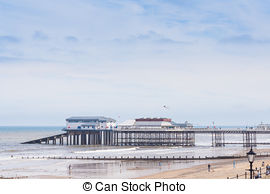 Stock Photo of cromer pier on a muggy cold day csp12253741.