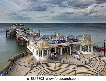 Stock Photo of England, Norfolk, Cromer. Looking down on Cromer.