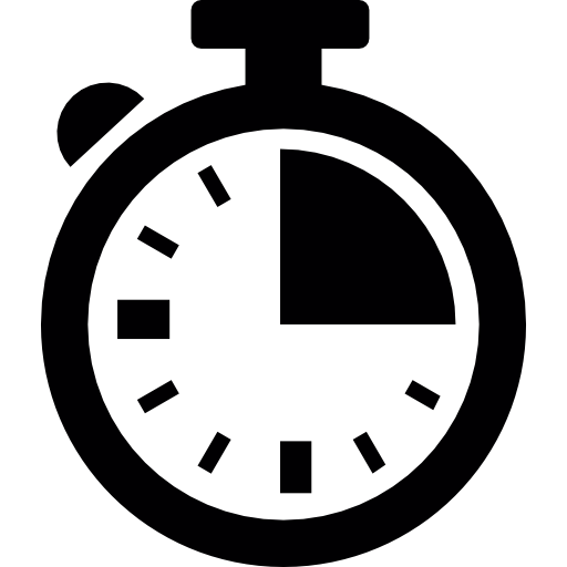 Chronometer, quarter hour, logistics Icons.