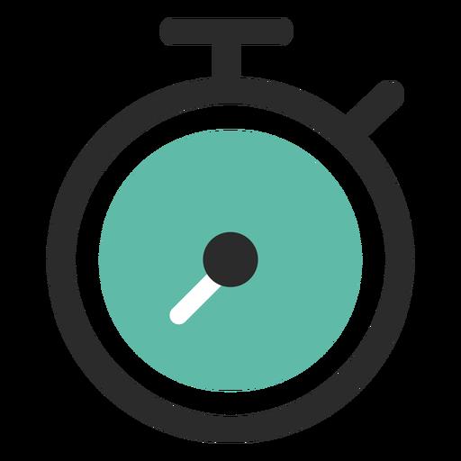 Ícone de traço colorido cronômetro.
