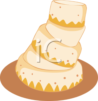 Crooked Tiered Cake with Frosting.