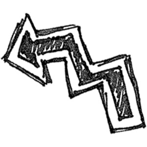 Crooked arrow clipart.
