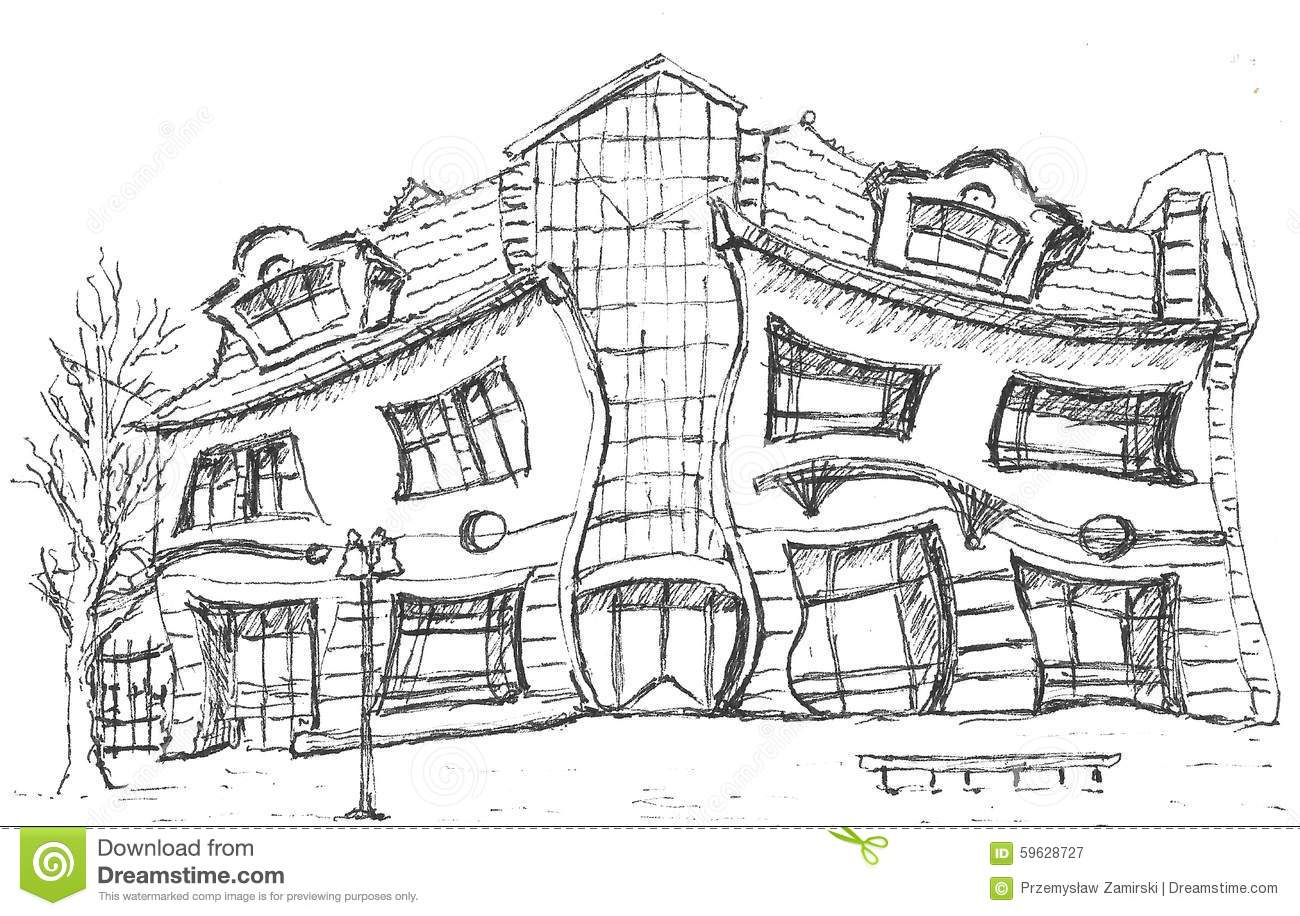 Crooked House Stock Illustrations.