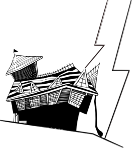 Free Clipart Of Crooked House.