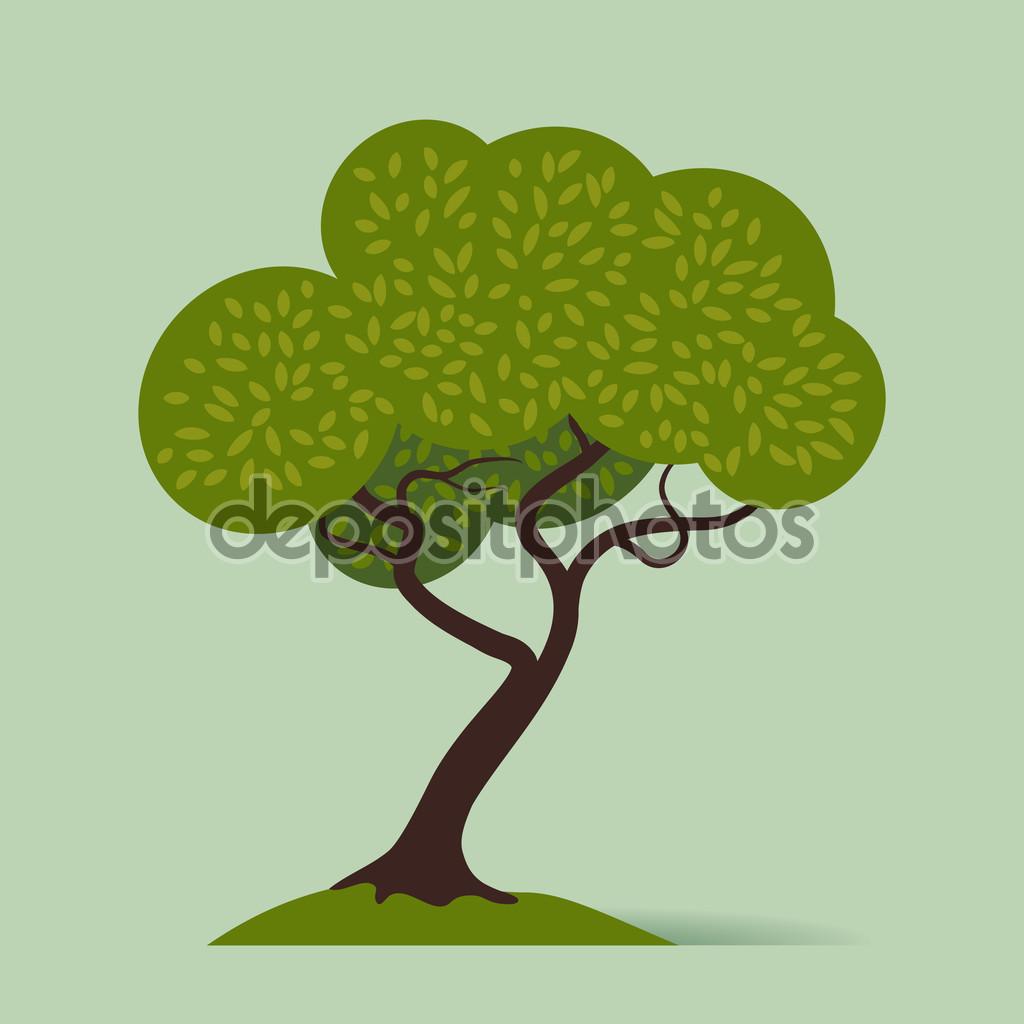 Cartoon crooked tree — Stock Vector © masha_tace #60820973.