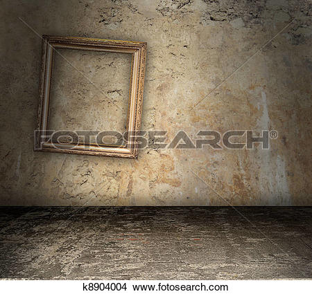 Drawings of Bare Room With Crooked Picture Frame k8904004.