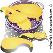 Crookneck squash Illustrations and Stock Art. 5 crookneck squash.