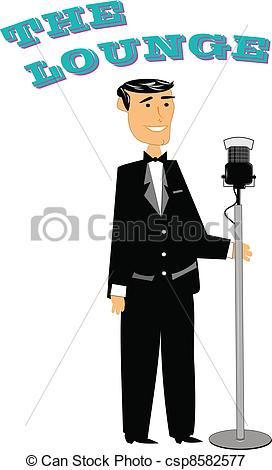 Vectors Illustration of retro style crooner.