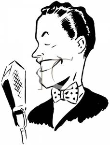 Male Singer With Microphone Clipart.
