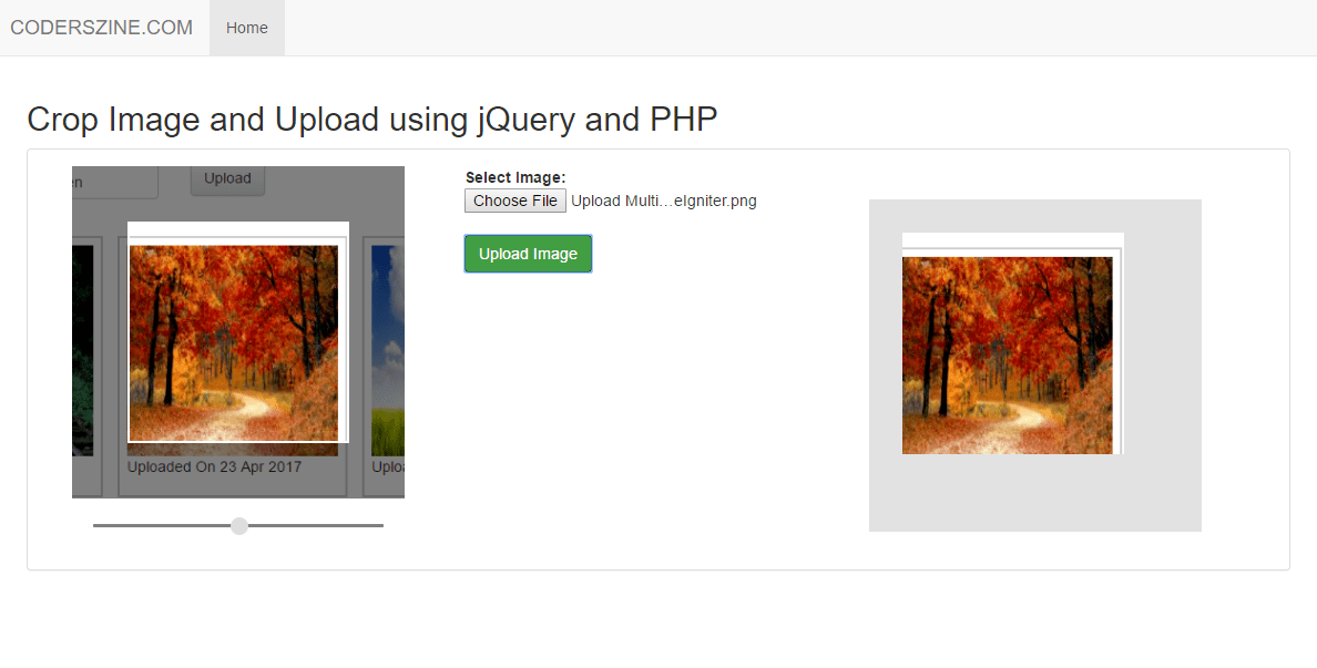 Crop Image and Upload using jQuery and PHP.