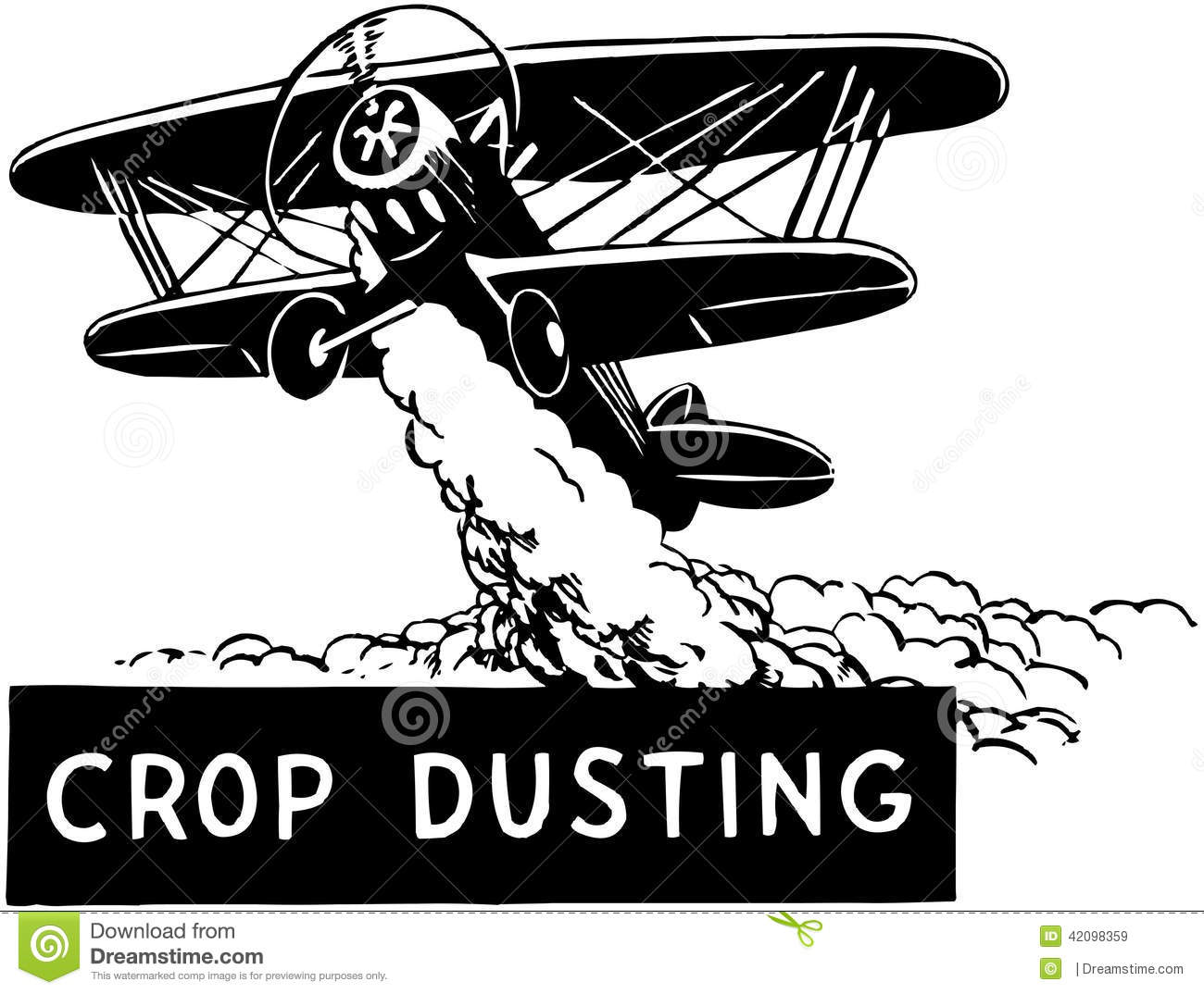 Crop Duster Stock Vector.