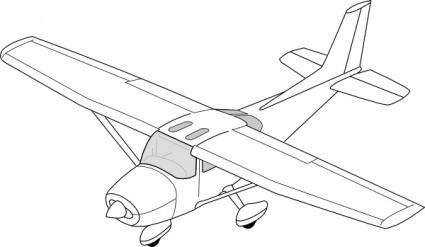 Crop duster plane clipart.