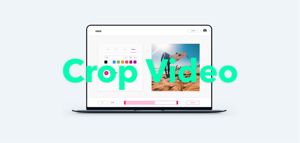How to crop a video online.