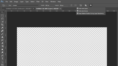 Photoshop CC 2015: Why is crop is not working (on document with.