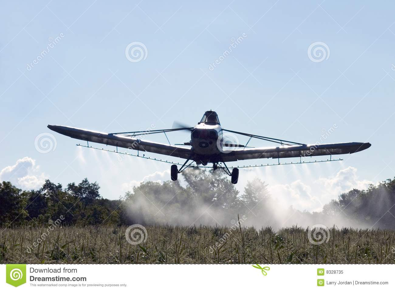 Crop Dusting Aircraft Royalty Free Stock Photo.