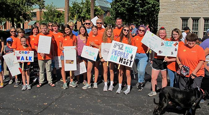 Greater Lexington (KY) CROP Hunger Walk.