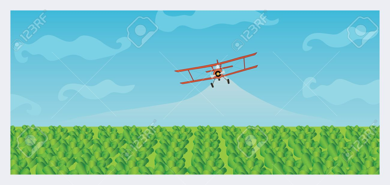 Free crop duster clipart.