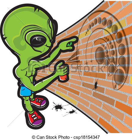 EPS Vector of Alien and crop circle.