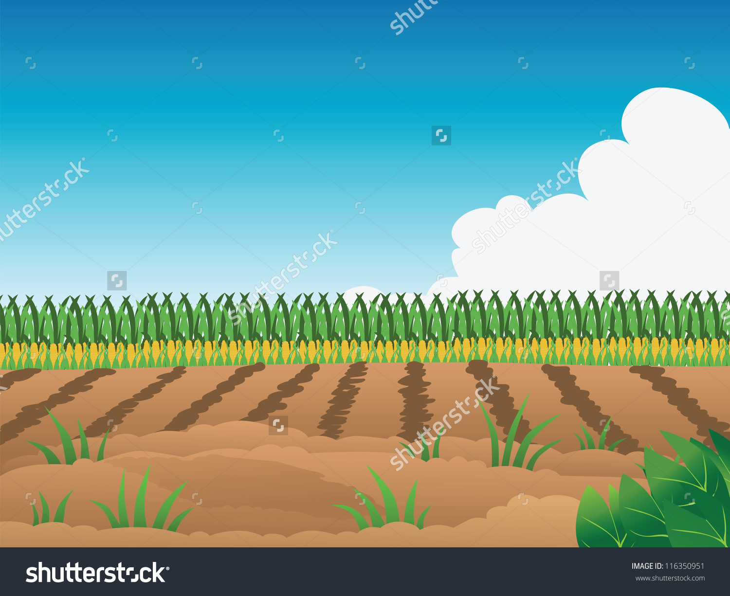 People cropping in fields clipart.