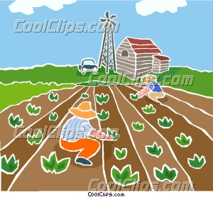 Planting Crops Clipart.
