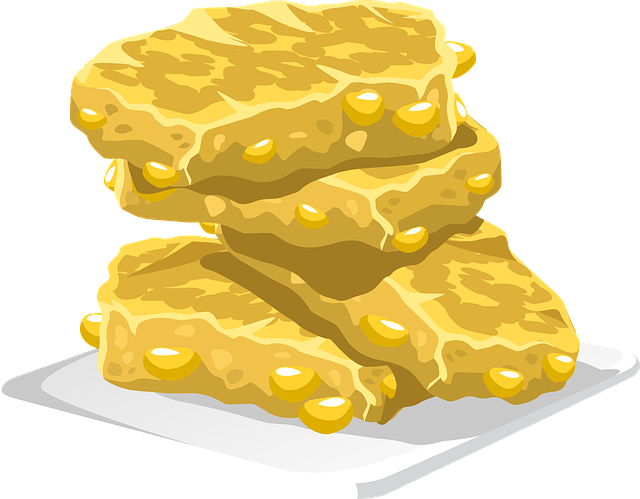 Free photo Croquant Rice Brittle Confectionery.