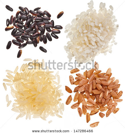 White Dry Uncooked Rice Heap Bowl Stock Photo 146695904.