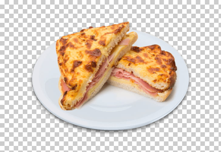 Breakfast sandwich Croque.