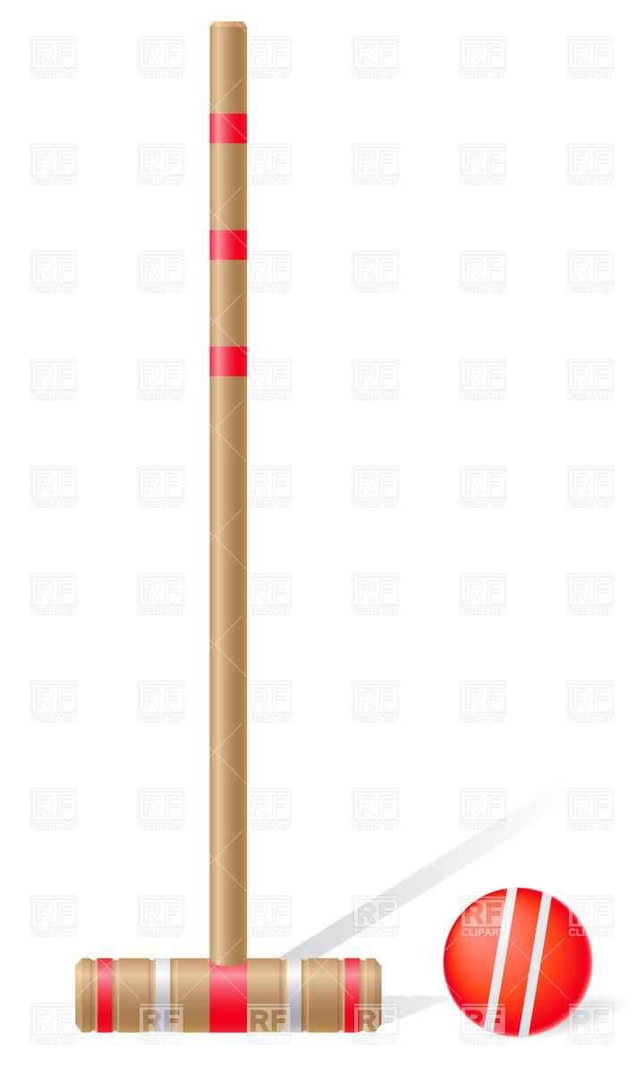 Croquet mallet and ball Stock Vector Image.