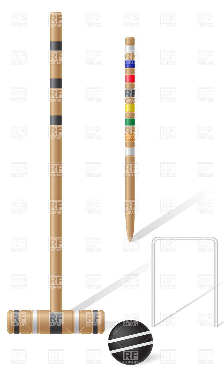 Equipment for croquet.