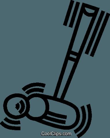 croquet mallet Royalty Free Vector Clip Art illustration.