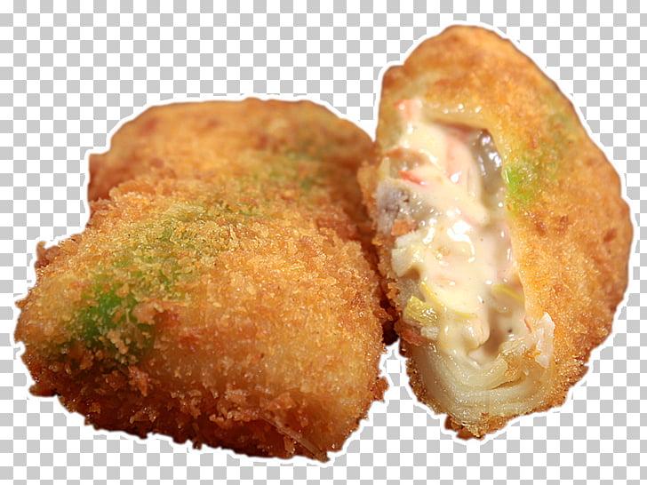 Croqueta de croquette pastel fritter freír, pescado PNG.