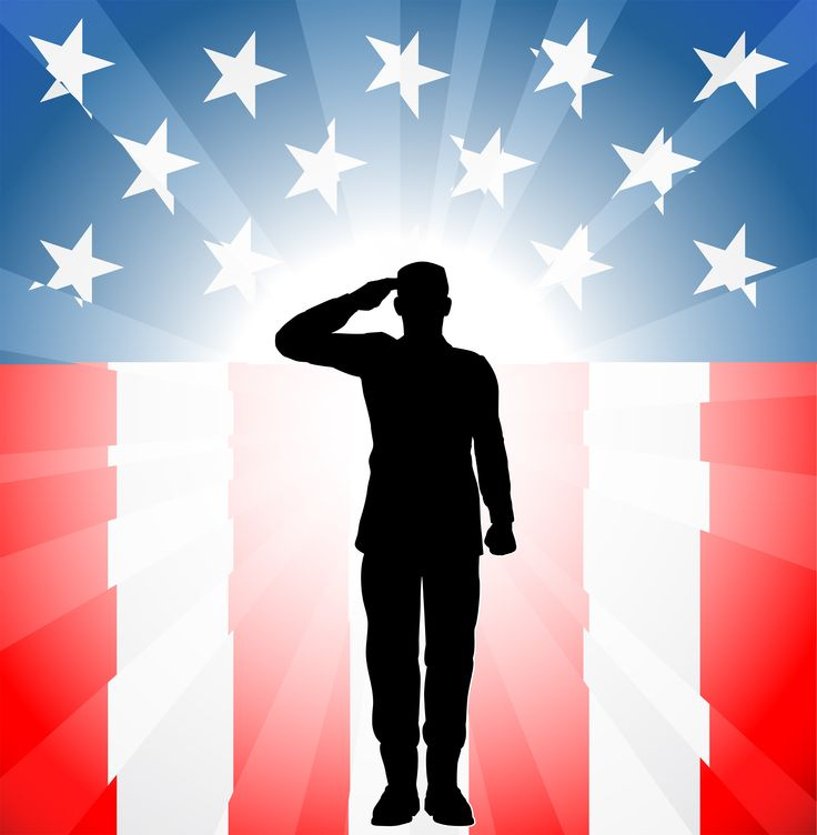 Soldiers Cross With American Flag Clipart.