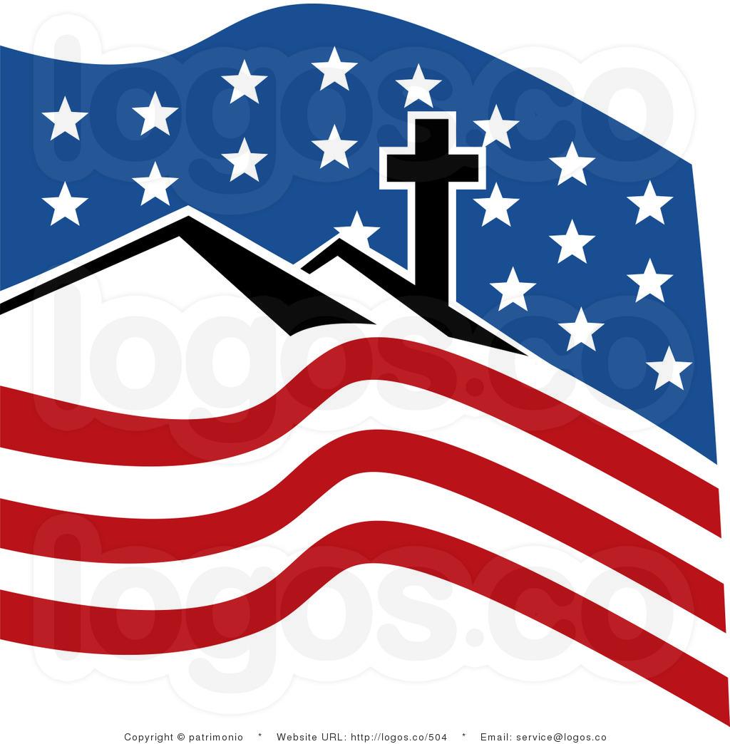 Cross American Flag Clipart.