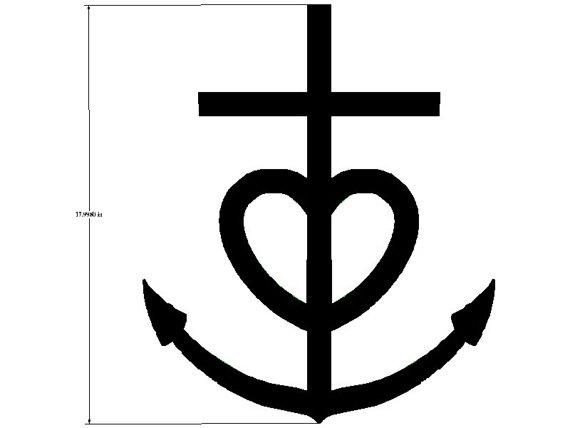 Anchor cross clipart.