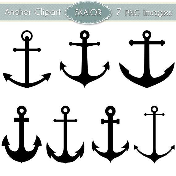 Anchor Clipart Vector Anchor Clip Art Nautical Clipart by skaior.