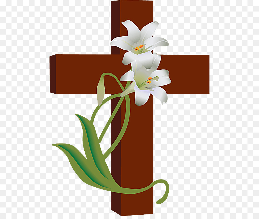Easter lily Christian cross Clip art.