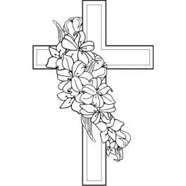 Cross With Flowers Clipart & Free Clip Art Images #18085.