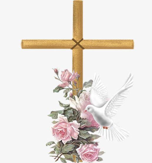 Cross Flowers PNG, Clipart, Birds, Cross, Cross Clipart, Flowers.