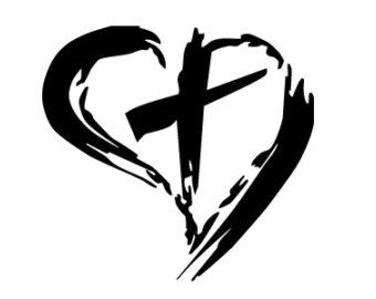 drawing of hearts and crosses.