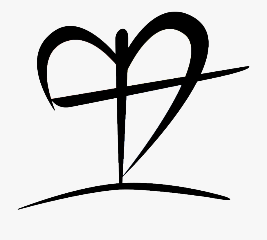 Clipart Black And White Download Cross Heart Clipart.