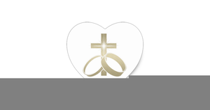 Cross And Rings Wedding Clipart.