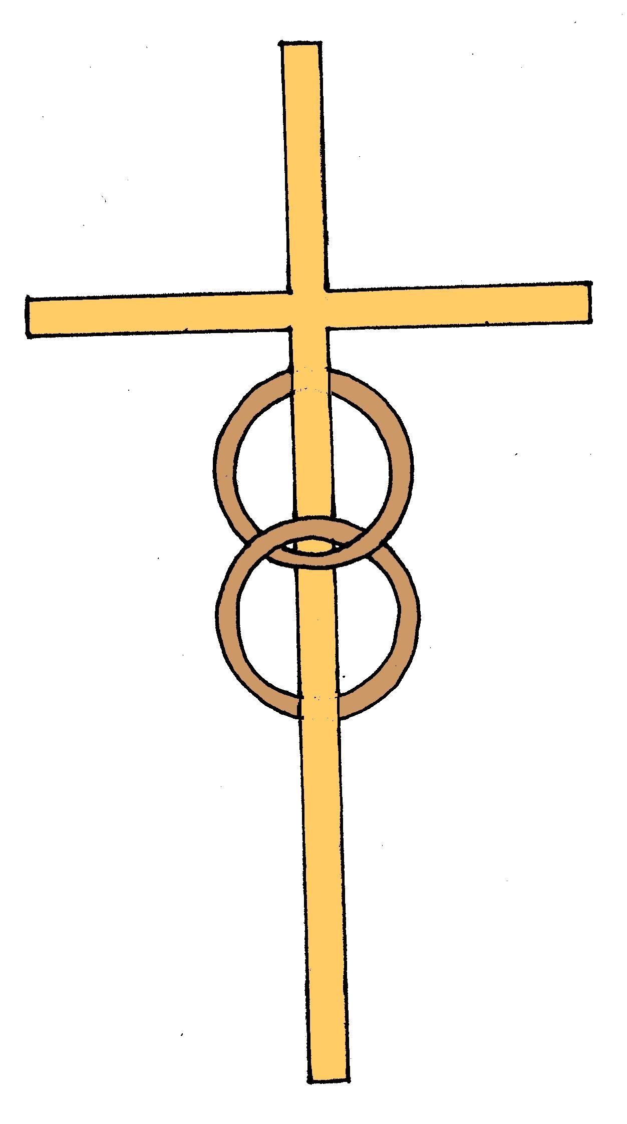 cross and rings clip art #14